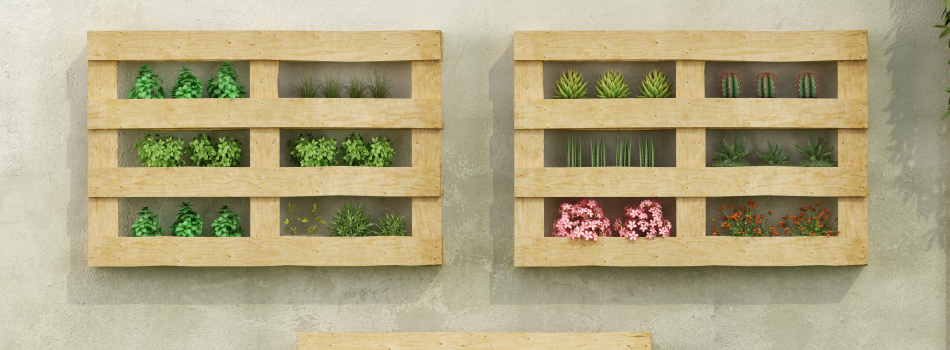 Semilleros y maceteros con palets muebles para terrazas hechos con palets - Jardineras con palets de madera ...