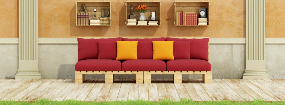 Sofas y camas con palets muebles para terrazas hechos for Muebles palets pdf
