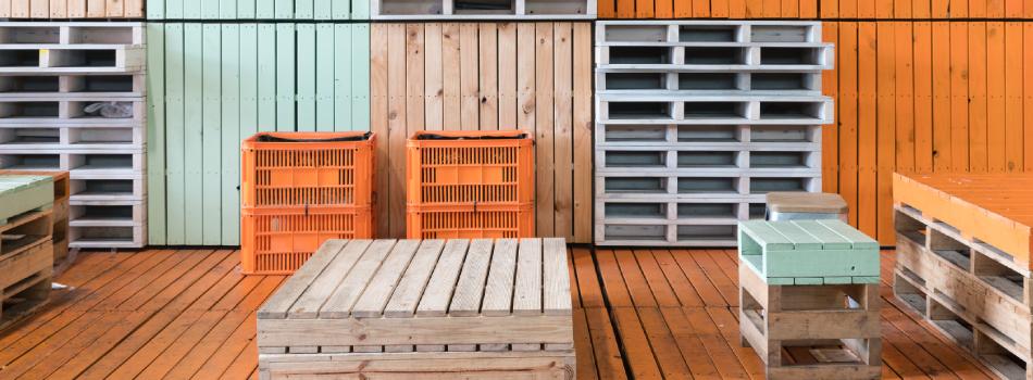 Palets para muebles muebles para terrazas hechos con palets for Muebles de palets precio