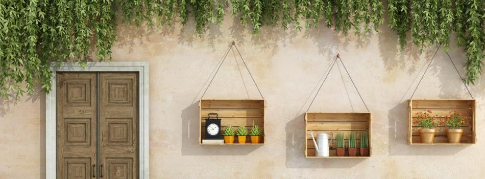 Cajas de madera muebles para terrazas hechos con palets for Muebles de terraza madera