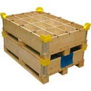 Esquinero de plástico amarillo para Cerchos de madera