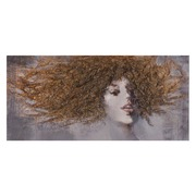 Pintura Chica Lienzo Ocre 150x70cm