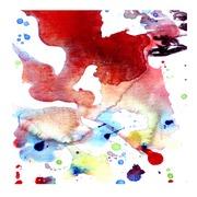 Cuadro Acuarela Abstracto Rojo Ref.OF014254
