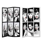 Biombo Fotoimpresión Lienzo Marilyn/Audry 120x180cm