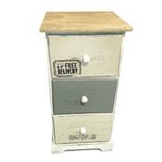 Mueble Auxiliar Vintage en Madera 3 Cajones Ref.204865