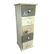 Mueble Auxiliar Vintage en Madera 5 Cajones Ref.204866