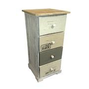 Mueble Auxiliar Vintage en Madera 4 Cajones Ref.204867