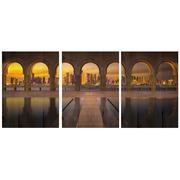Cuadro Panorámico Arcos de Madera 147x60cm
