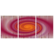 Cuadro Panorámico de Madera Espiral 147x60cm