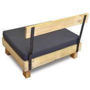 Respaldo Sofá de Madera con Hierro 100 cm