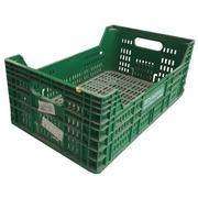 Caja Agrícola Verde Usada en PEHD 29 x 50 x 19.5 cm