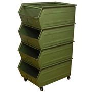 Estantería de Cajas Industriales con Ruedas 70 x 46.5 x 131.3 cm