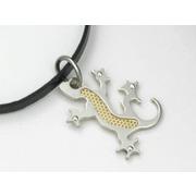 Colgante en Acero + Oro Forma Salamandra