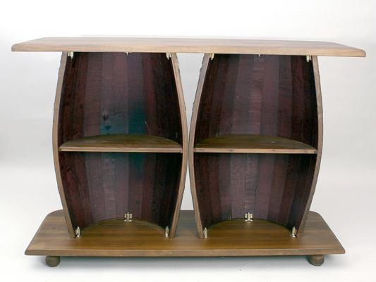 Barra 2 barriles 2 taburetes for Barril mueble bar