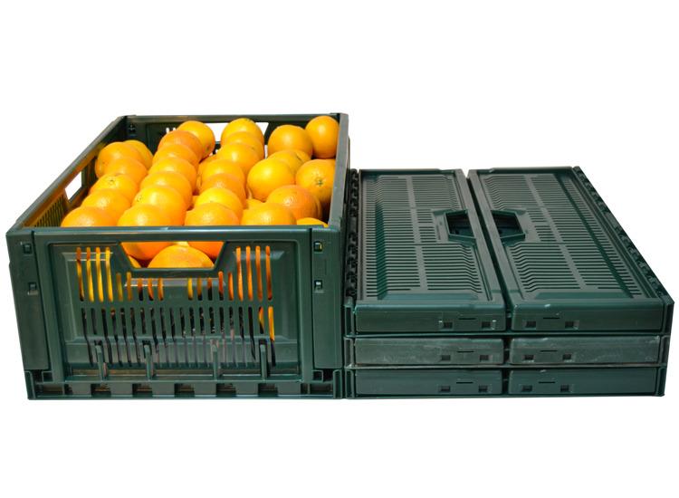 Caja plegable 600x400x235 outlet for Cajas de plastico plegables
