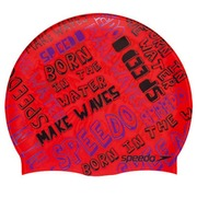 Speedo Gorro Junior Slogan Cap v13 Splash Speedo Red