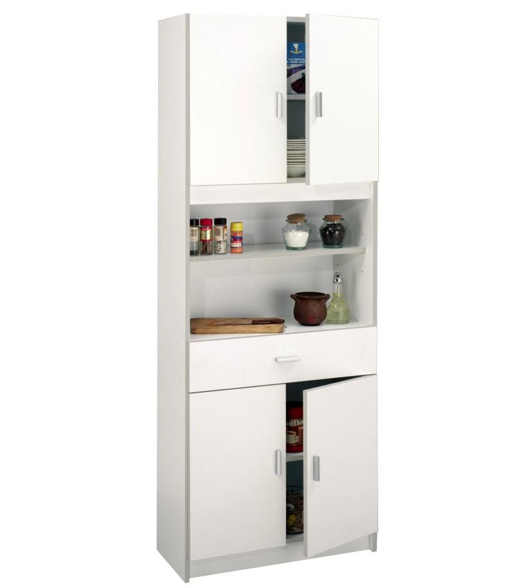 Imagen De Mueble Auxiliar + Puertas Blanco Modelo 1100