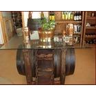 Mesa tonel con botellero