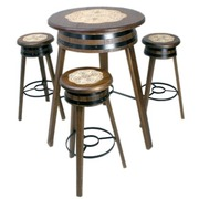 Mesa con 4 Taburetes Artesanal