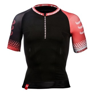 CAMISETA COMPRESIVA COMPRESSPORT TRIATLON SHIRT NEGRO