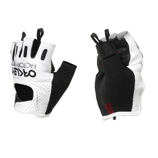 GUANTES CARREETRA OAKLEY FACTORY ROAD GLOVE BLANCO/NEGRO