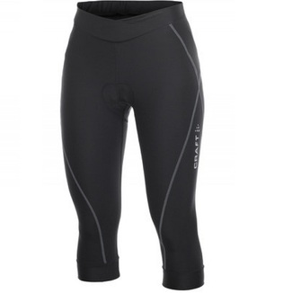 CULOTTE 3/4 MUJER CRAFT ACTIVE NEGRO/PLATA