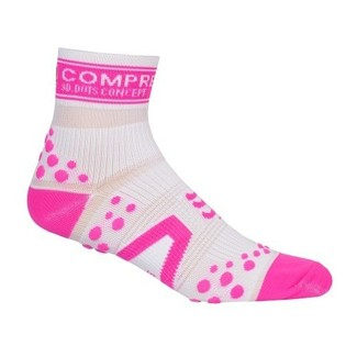 CALCETINES COMPRESSPORT RUN HIGH BLANCO/ROSA