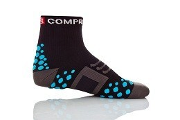 CALCETINES CICLISMO COMPRESSPORT BIKE HIGH NEGRO/AZUL