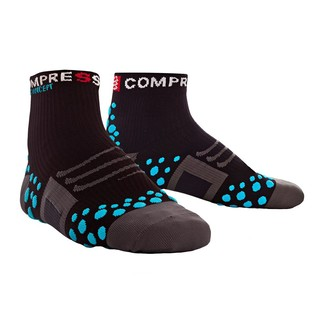 CALCETINES RUNNING COMPRESSPORT RUN HIGH NEGRO/AZUL