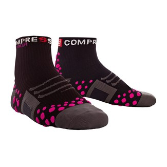 CALCETINES RUNNING COMPRESSPORT RUN HIGH NEGRO/ROSA