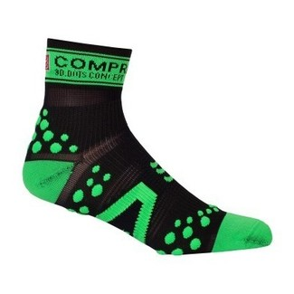 CALCETINES RUNNING COMPRESSPORT RUN HIGH NEGRO/VERDE
