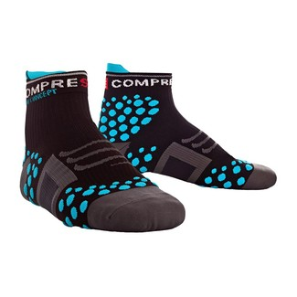 CALCETINES TRAIL RUNNING COMPRESSPORT TRAIL HIGH NEGRO/AZUL