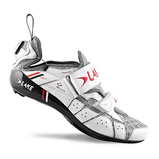ZAPATILLAS CICLISMO CARRETERA LAKE TX312 BLANCO/ROJO