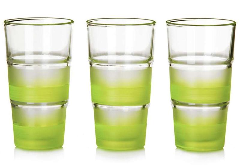 Set 3 vasos refresco cristal verde - Vasos grandes cristal ...