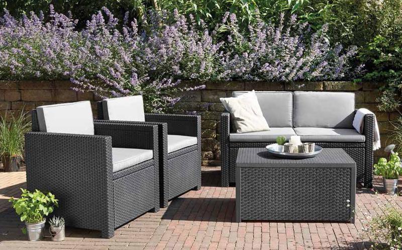 Conjunto exterior jardin cool conjunto mesa y sillas for Conjunto mesas y sillas de jardin baratas