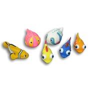 Juegos Acuaticos Set de 5 figuritas de goma surtidas