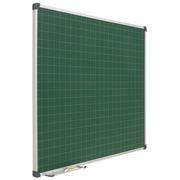 Pizarra Mural Cuadriculada Verde Acero Vitrificado