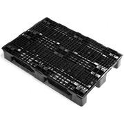Palet Plastico Superficie Rejada Negro 800x1200 OI1208ER3R