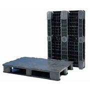 Palet Plastico Negro Superficie Tapada 800x1200 O1208HRC3R