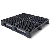 Palet Plastico Negro Superficie Rejada 1140x1140 OI1140M3RR