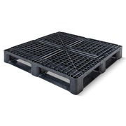 Palet Plastico Negro Superficie Rejada 1140x1140 OI1140M6RR