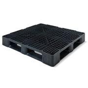 Palet Plastico Negro Superficie Rejada 1140x1140 OI1140HR6R