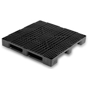 Palet Plastico Negro Superficie Rejada 1140x1140 OI1140HR3R