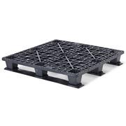 Palet Plastico Negro Superficie Rejada 1200x1200 OIP1212LR