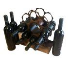 Botellero de hierro para 8 botellas de vino - Parellada