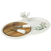 Set Aperitivo Porcelana Loungue 22x36x7cm