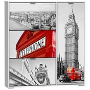 Zapatero Londres 3 Trampones 1 Puerta Ref.H314-2LON