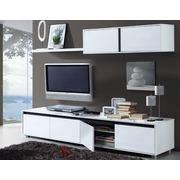 Conjunto Salón Aura Blanco Brillo Ref.006663BO