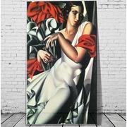 Cuadro Mujer Vestido Blanco Impreso 110x180 Ref.GC0158