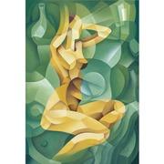 Cuadro Desnudo de Mujer Artistico Dorado Ref.DE8219